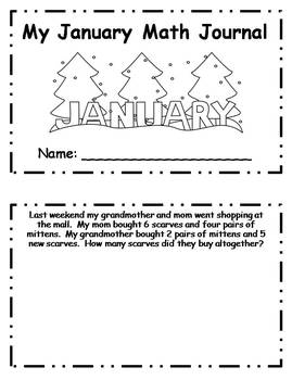January Daily Math Journal