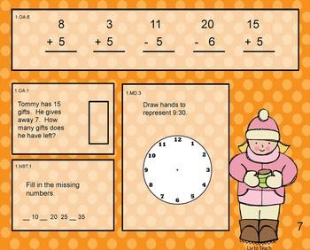 January Daily Math Warm-Up (1st Grade Common Core)