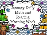 January Daily Math and Reading Morning Work/ Homework