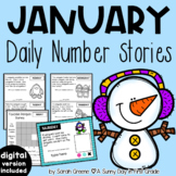 Daily Number Stories JANUARY {5 themed weeks!}