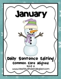 January Daily Sentence Editing