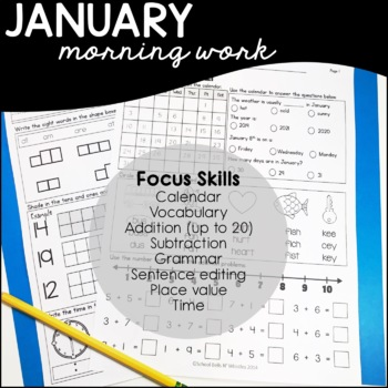 January Daily Skills Practice /Morning Work
