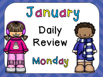 January Daily Review PowerPoints for Kindergarten~ Great f