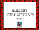 January Daily Warm Ups for Kindergarten