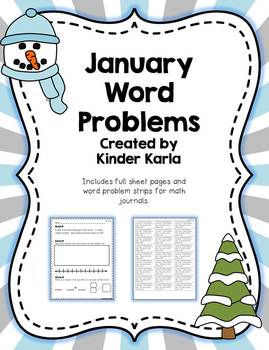 January Daily Word Problems