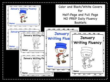 January Daily Writing Fluency Prompts - 31 Sentence Starters