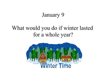 January Daily Writing Prompts