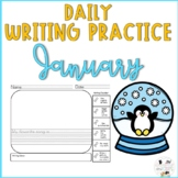 January Daily Writing Prompts for Kindergarten and First Grade