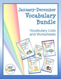 January-December Vocabulary Bundle: Vocabulary Lists and W