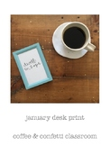 """Dwell In Hope"" Desk Print"