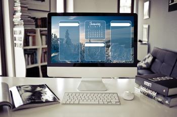 January Desktop Organizer (customizable)