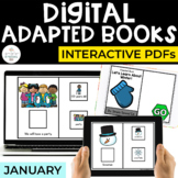 January Digital Adapted Books for Special Ed (Interactive PDFs)