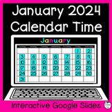January Digital Calendar Time for Google Slides ~ 1st Grad
