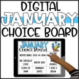 January Digital Choice Board for Early Finishers