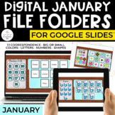 January Digital File Folders for Special Education