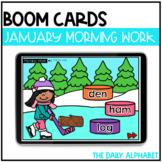 January Digital Morning Work | Kindergarten Boom Cards™ fo