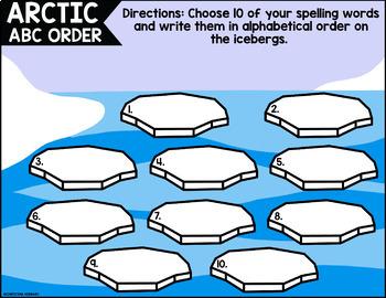 January Digital Spelling Activities for Word Work