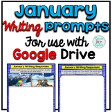 January Digital Writing Prompts for use with Google Slides