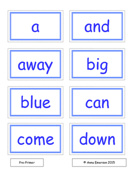 January Dolch Sight Words Flash Cards and Fluency Phrases