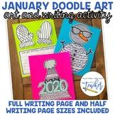 January Doodle Art