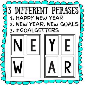 January Door Decor: NEW YEAR GOALS