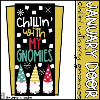 January Door Set: Chillin' with My Gnomies
