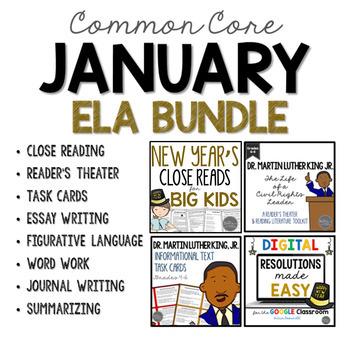 January ELA Bundle Common Core Aligned for Grades 4-6