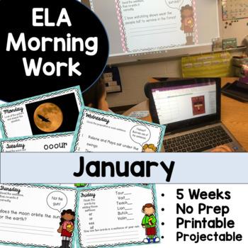 January Morning Work No Prep!
