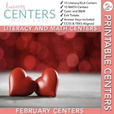 February Centers Bundle--2nd Grade Math and ELA