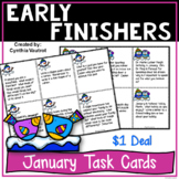 Early Finishers Task Card Activities for January {$1 Deal}