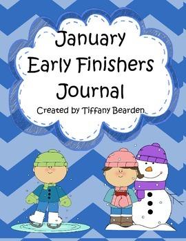 January Early Finishers Writing Journal