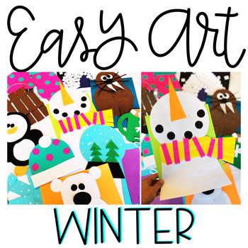 January Easy Art: Adapted Art Activities