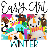 January Easy Art: Adapted Art and Writing Activities