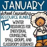 Winter Counseling Activities: January School Counseling Bundle