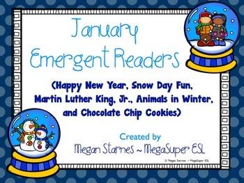 January Emergent Reader Mini-books (five readers)