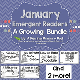January Emergent Readers and Response Activities Growing Bundle