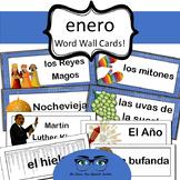 January / Enero Word Wall Cards! Spanish version