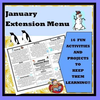 January Extension Choice Menu