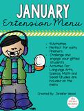 January Extension Menu