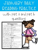 January FSA PARCC Style Daily Reading Practice