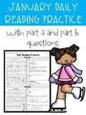 January FSA PARCC Style Daily Reading Practice