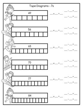 Multiplication and Division Math Facts Worksheets: January