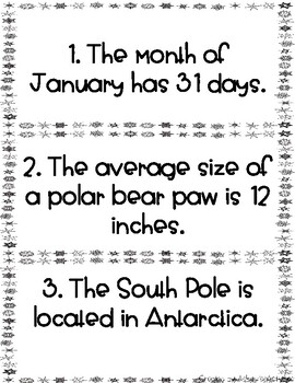 January Fact and Opinion