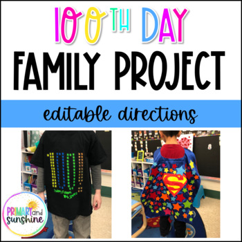 January Family Project- 100th Day