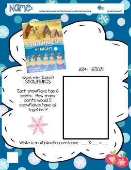 Winter Printables 21pgs! Multiplication/Reading -Work Smarter Not Harder! QR
