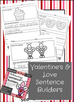 January February Sentence Builders Bundle