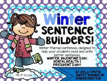 Winter Sentence Builders!