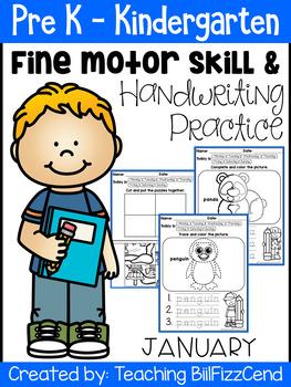 January Fine Motor Skill and Handwriting Practice