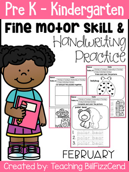 February Fine Motor Skill and Handwriting Practice