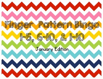 January Finger Pattern Bingo (Differentiated 1-5, 6-10, & 1-10)